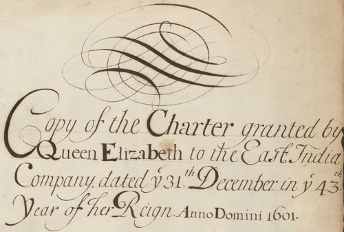 Copy Letters Patent of Elizabeth I